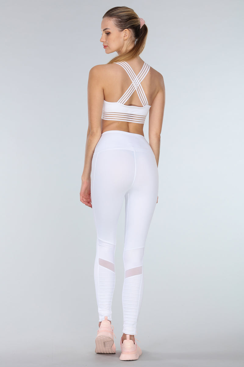 BLURRED-LINES SPORTS BRA | WHITE