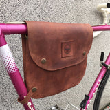 Bicycle Leather Frame Bag - Fits most frames and provides elegant and practical for urban cycling