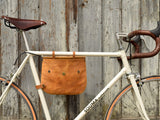 "Bikegab - Leather bicycle frame bag/shoulder bag ""TOPAZ"""