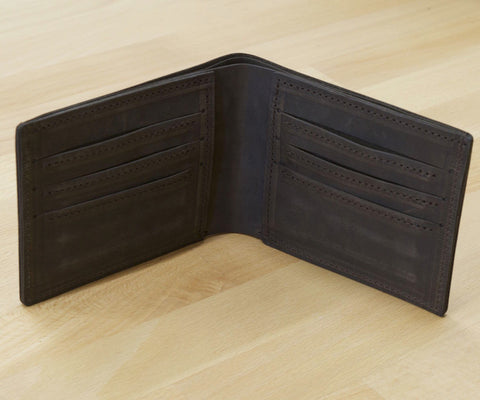 Cardholder leather wallet - Whiskey - timeless design and thick full grain leather, will last you a lifetime