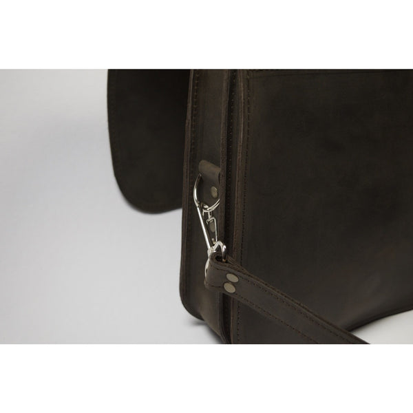 Premium heavy duty hardware - Small Messenger Bag by Souma Leather