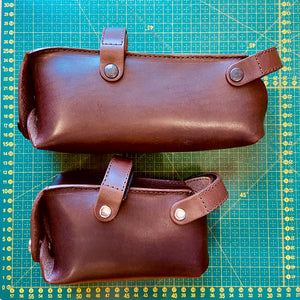 Leather Saddle Bag for Bicycles and Brompton bicycle