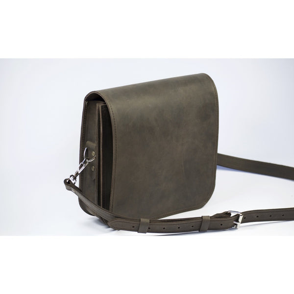 Leather adjustable shoulder strap to make sure it fits everybody - Small Messenger Bag by Souma Leather