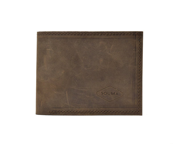 Classic leather wallet - Dark Brown - timeless design and thick full grain leather, will last you a lifetime