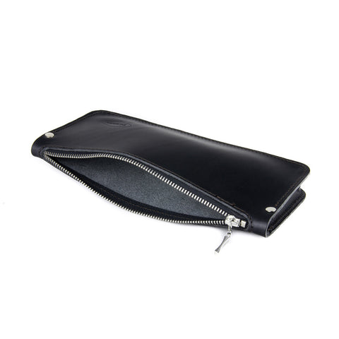 Women's Leather Zipper Pouch