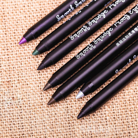 Eyeliner Pencil Matte Glitter 7 Color Eye Liner Pencil Pen Waterproof