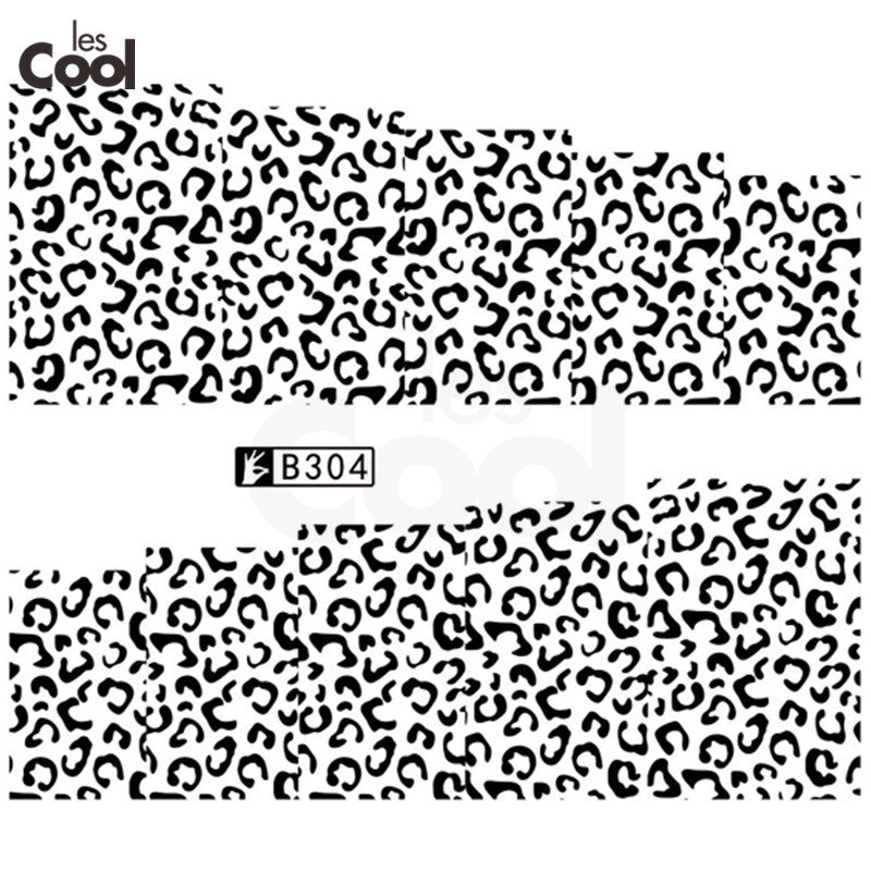 1Sheet Wildlife Animal Pattern Nail Art Water Transfer Stickers Leopard Nail