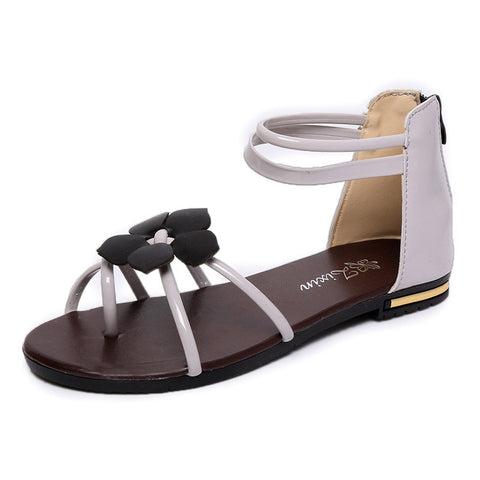 Women Sweet Women Sandals Flower Ankle Strap