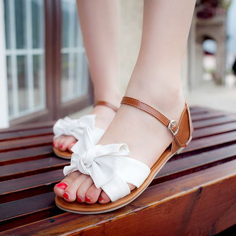 Colorful Fashion Summer Sweet Women Flat Sandals