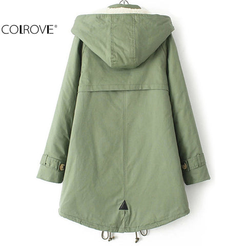 Outwears Novelty Warm Casual Stylish Hooded Long Sleeve Pockets Coat