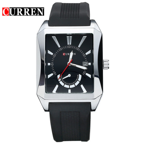 casual quartz watch men large dial waterproof chronograph  wrist watch