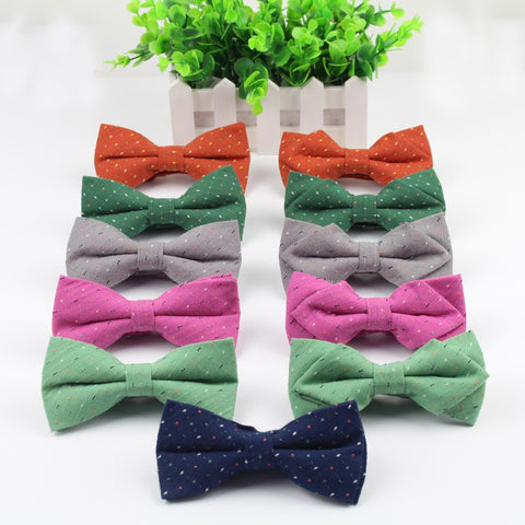 Flexible Bowtie Smooth Necktie Striped Butterfly Decorative Pattern Colorful