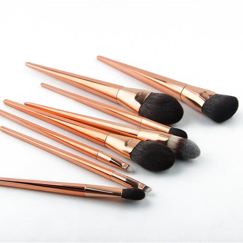 8 Pieces Brochas Maquillaje Rose Gold Make Up Brushes