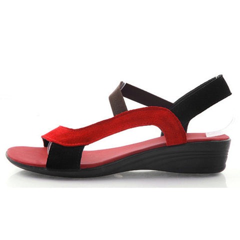Gladiator Sandals Women Red Sandalias Mujer Cross strap