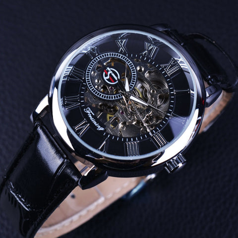 Literal Design Roman Number Black Dial Designer Watches Men