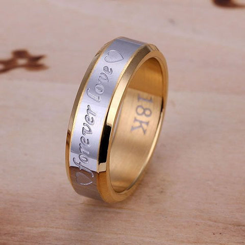 silver plated  Ring Fine Fashion Forever Love Steel Ring Women&Men Gift