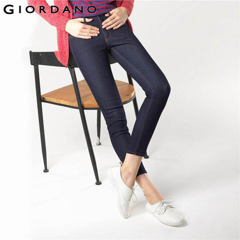 Indigo Denim Pants Ladies Clothing Famous Brand Casual Slim Fit Trousers