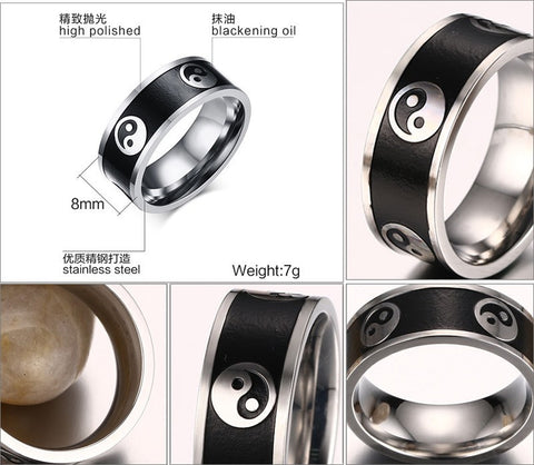 Vintage Style Men's Ring High Polished Stainless Steel Men Jewelry