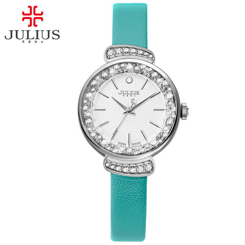 color quality bangle girls stone high mint green with customized water women watch resistant ladies bracelet watches crystal