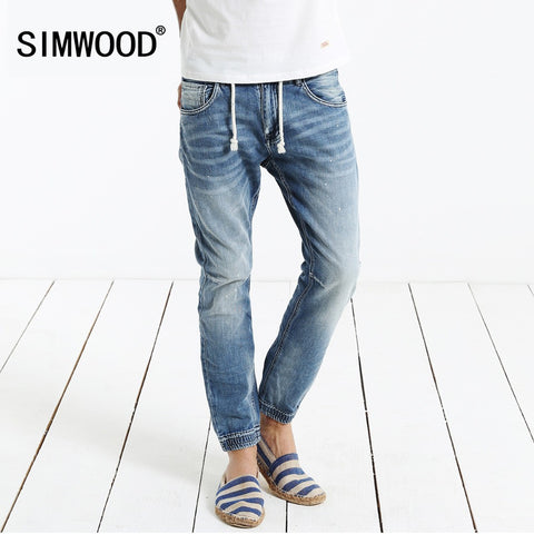 Men Denim Pant  Slim Casual Trousers High Quality Plus Size