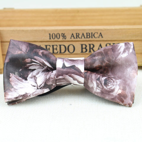Men Bow Tie High Quality Leather Bowtie Smooth Designer Dermic Necktie