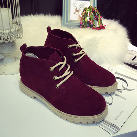 Brand Women Ankle Boots Flat Heels Shoes Women Casual
