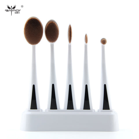 Oval Makeup Brushes Soft Makeup Brush Set  MULTIPURPOSE Make Up