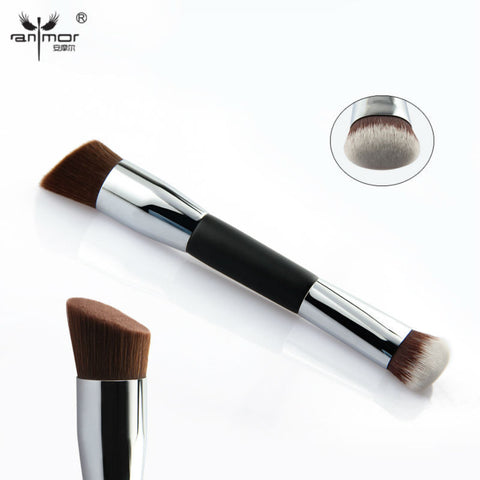 Round Top Foundation brush And Angled Contour Blush Brush