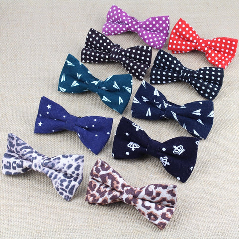 Bowties Groom Striped Mens Plaid Soft Cravat For Men Butterfly Skull