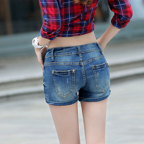 denim shorts Hole short jeans Plus