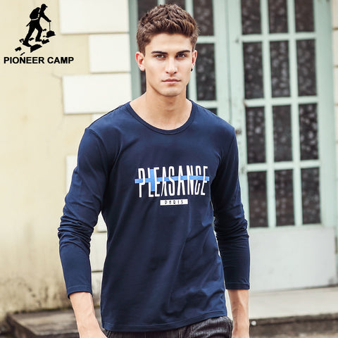 Long Sleeve elastic T Shirt Men Slim T-Shirt Brand Clothing Men'S male