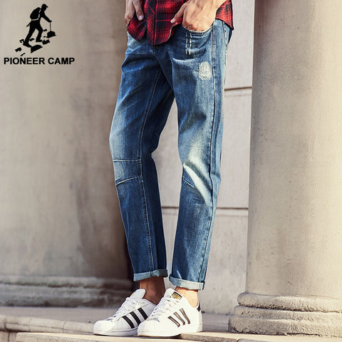 Jeans classic denim trousers fall winter  brand clothing high quality cotton