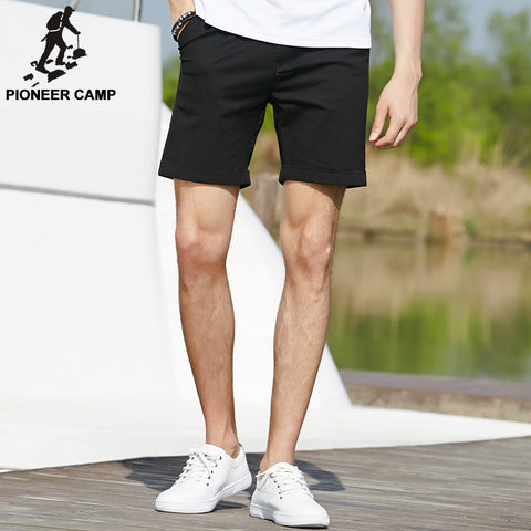 elastic cotton casual shorts fashion jogger shorts black