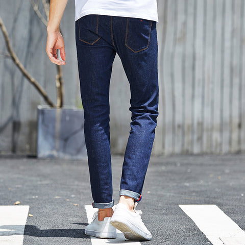 Jeans Male Brand 2016 New Fit Jeans For Men Thin Cotton Soft  Elastic