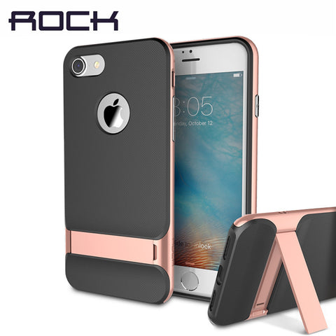 iPhone 7/7 Plus Luxury Brand Phone Cases PC+TPU Phone Sleek Stand