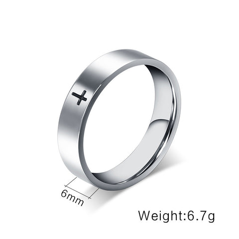 Simple 6mm Stainless Steel Rings For Women