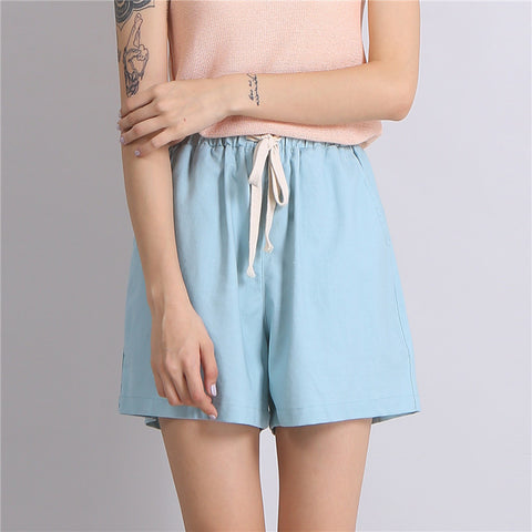 Women Plus Size Living Home Casual Wide Leg BeachShorts