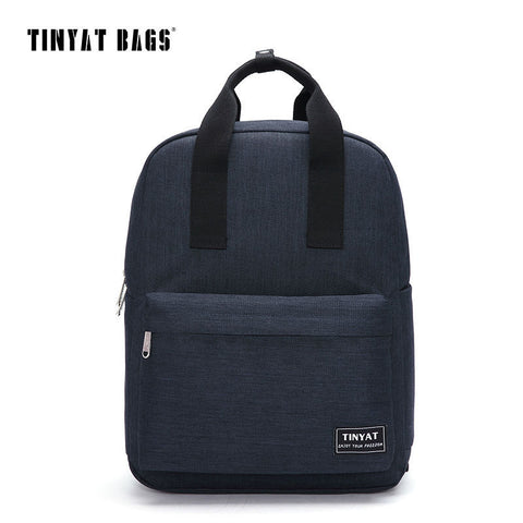 Canvas Men School Bags Student School bags 15inch laptop computer