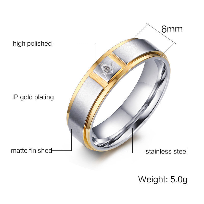 Mens Masonic Rings Jewelry High Quality Surgical Steel Rings