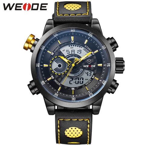 Watch Digital Quartz Dual Mov't Multi-Functional Waterproof Wrist Watches For Men