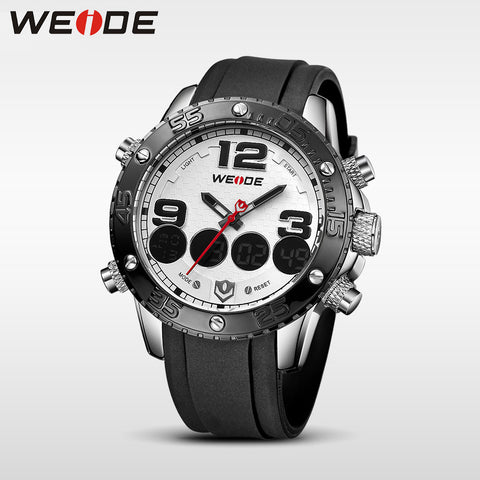Casual Watches Analog Digital Alarm Stopwatch Display Waterproof