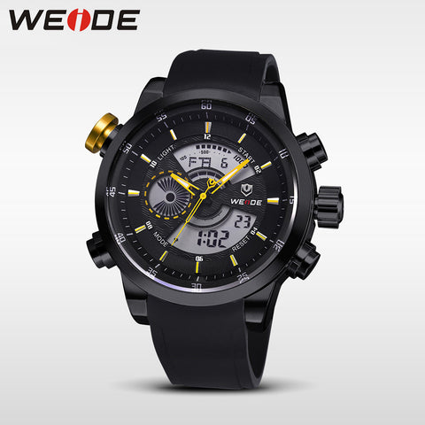 Quartz Double Movement Analog Digital Date Alarm Stopwatch Display Waterproof