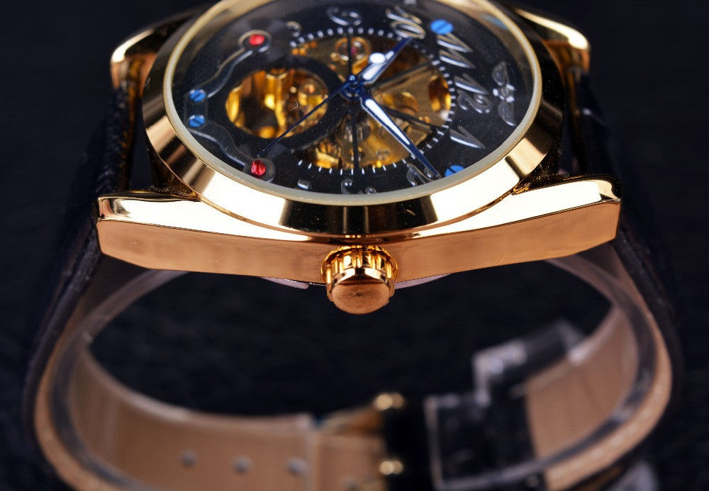 Black Dial Golden Case Designer Men Watches Top Brand Luxury