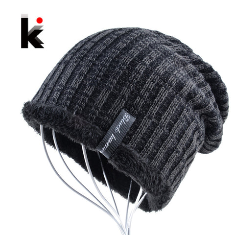 Winter beanie men hat water ripples stocking cap mens skullies knitted hats