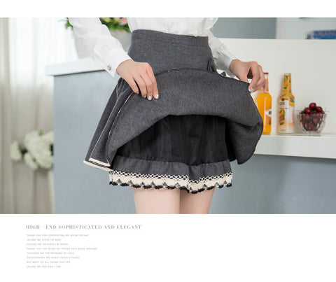 Underskirt  women pleated bow skirt lady's a-line skirts