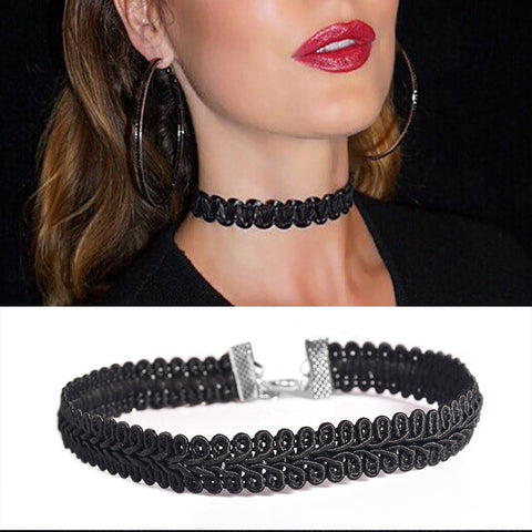 Newest  fashion jewelry accessories  Black Lace Wave Choker  necklace for couple lovers