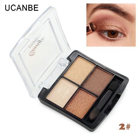 4 color fashion brand cosmetic maquiagem shining eyeshadow brush