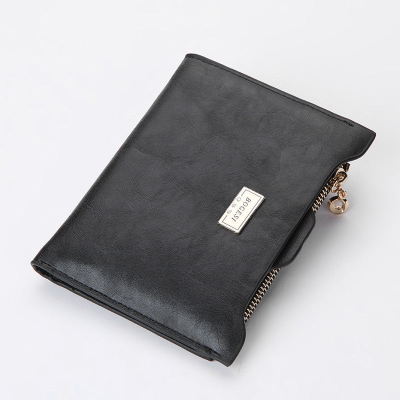 Brand Fashion Zipper PU Leather Coin Card Holder