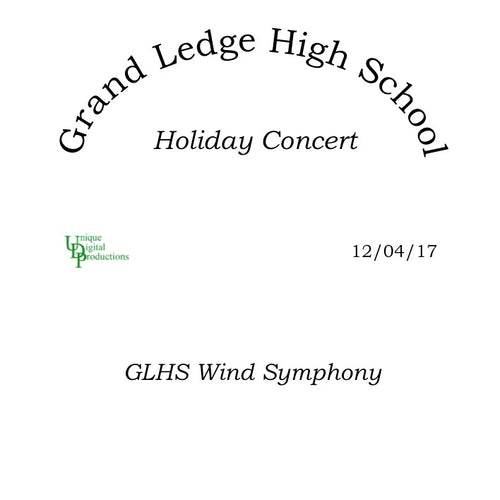 Wind Symphony,  Holiday Concert December 4, 2017
