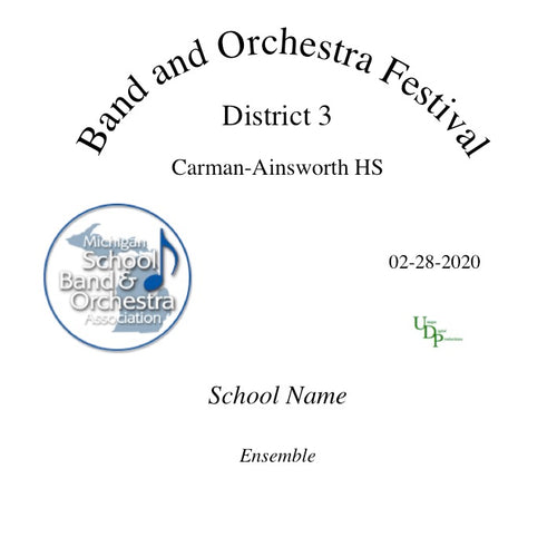 02/28/20 Flint Carman-Ainsworth MS 7th Grade Band